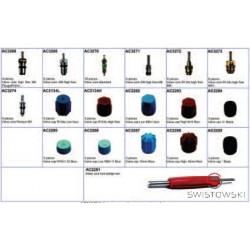 Zestaw do serwisowania klimatyzacji KIT F - zawórki i nakrętki