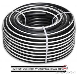 Wąż techniczny biało-czarny 13/19mm 20 bar