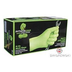 Rękawice nitrylowe PYTHON GRIP XL 100 szt./pud. zielone