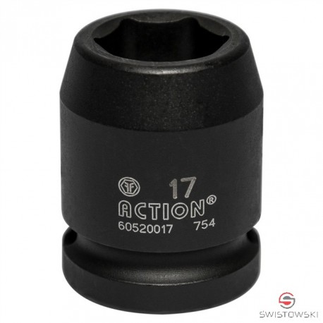 """Nasadka 17 mm 1/2"""" dł. 38mm W"""