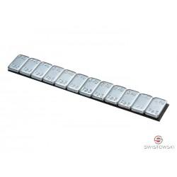 Ciężarek klejony ocynkowany SMART 60g (5-5) 100szt./pud. ZAOKRĄGLONE - CLEAR TAPE