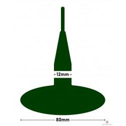 Kołek MARUNI grzybek 80x12mm z drutem