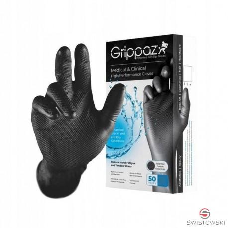 """Rękawice robocze Grippaz """"L"""" czarne (no.2445 - biały karton)"""