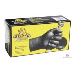 Rękawice nitrylowe LION GRIP M 100 szt./pud. czarne