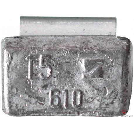 Ciężarek  15g ALU nabijany (typ 610) 100 szt./pud.