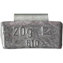 Ciężarek  20g ALU nabijany (typ 610) 100 szt./pud.