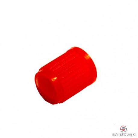 Kapturek-nakrętka plastikowa CZERWONA 100 szt.