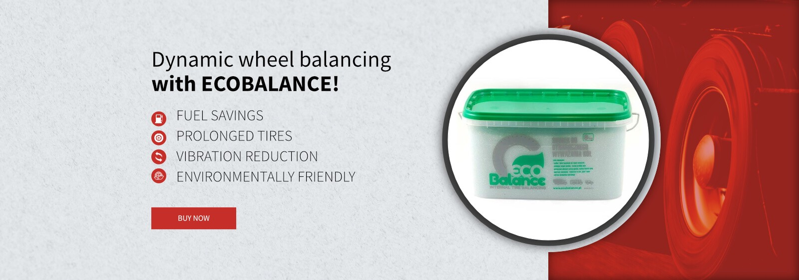 Dynamic wheel balancing with ECOBALANCE
